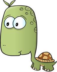 Cute Turtle Vector Illustration Art