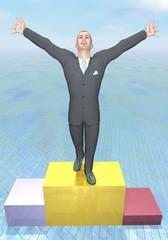Successful businessman - 3D render