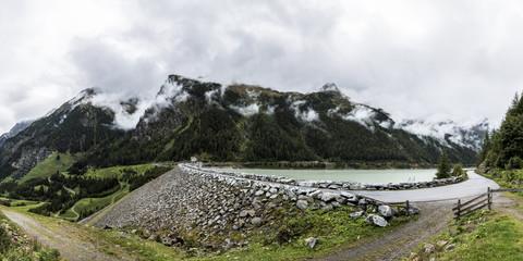 Gepatschspeicher, Kaunertaler Gletscherstraße, Tirol. Österreich