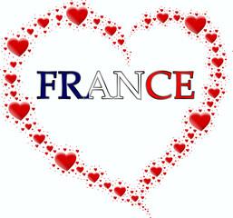 serce z serc i napis France