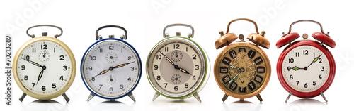 Leinwandbild Motiv cinque sveglie vintage