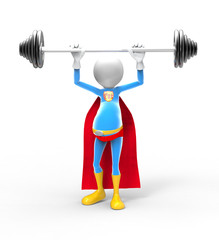 3d superhero lifting weights