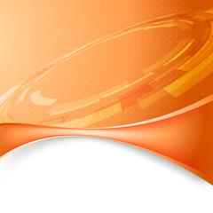 Mechanic gear orange tech background