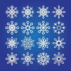 Decorative Snowflakes icon collection.
