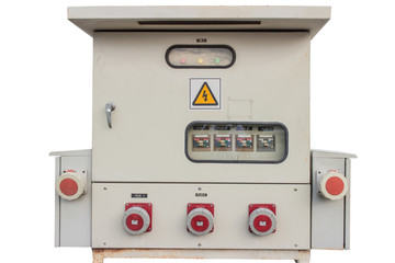 Control panels in an electronics labOblique
