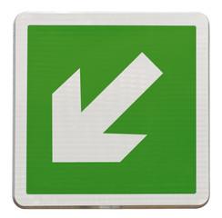 flèche directionnelle d'évacuation bas, gauche