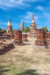 Ancient temples in Ayutthaya, Thailand