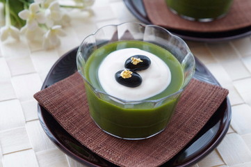 Matcha Green Tea Jelly