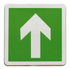 flèche directionnelle d'évacuation haut, monter