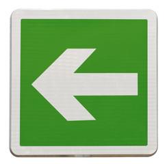 flèche directionnelle d'évacuation, à gauche