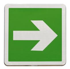 flèche directionnelle d'évacuation, à droite