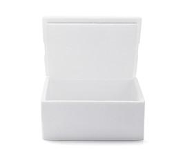 Open Styrofoam Box