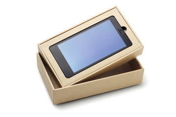 Smartphone In Packaging Box