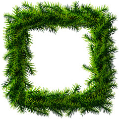 Christmas square wreath without decoration