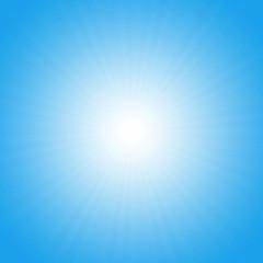 Turquoise starburst effect