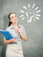business woman idea