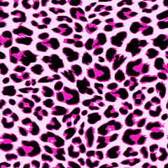 Leopard seamless pattern design, vector background