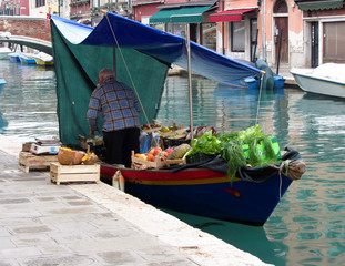 Floating greengrocer at venice