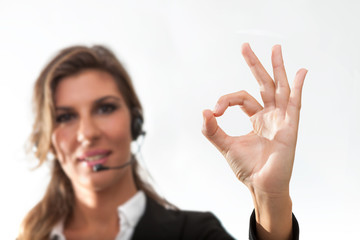 Young woman in a customer service