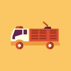 Fire Truck. Transportation Flat Icon