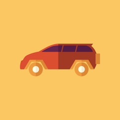 Family Car. Transportation Flat Icon