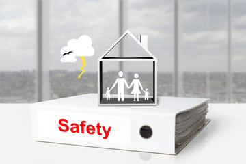 office binder house family thunderstorm safety
