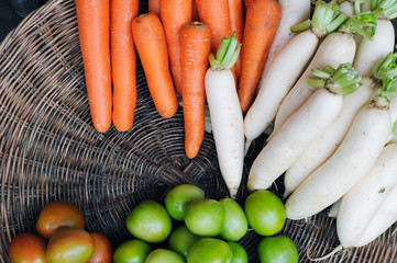 Fresh and healthy vegetables from Asian market