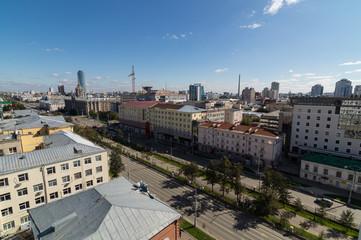 Центральная улица, города Екатеринбурга, Россия