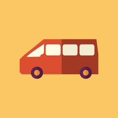 Mini Van. Transportation Flat Icon