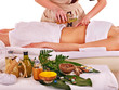 canvas print picture - Woman getting spa therapy outdoor.