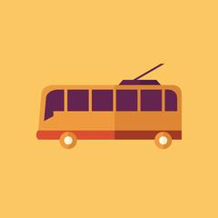 Trolley. Transportation Flat Icon