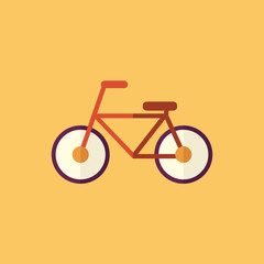 Bike. Transportation Flat Icon