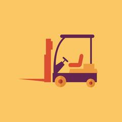 Forklift. Transportation Flat Icon