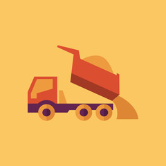 Truck. Transportation Flat Icon