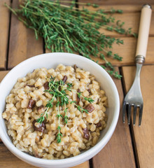 orzotto with mushrooms