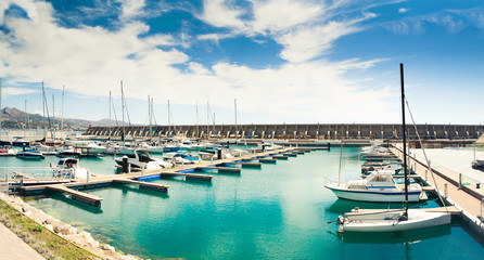 Sea bay in a sunny day