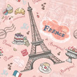 Seamless pattern on Paris from the romantic elements - 70218846