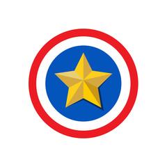 Vector logo star in circle