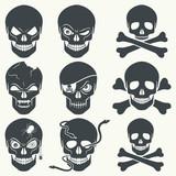 Fototapety Skull icons.