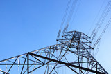 Towering Steel Pylon Supporting Electric Power Cables