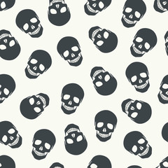 Seamless pattern with skulls.
