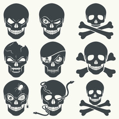 Skull icons.