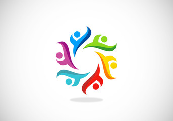 circle people diversity multicolor logo