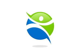 fitness people sport icon vector logo