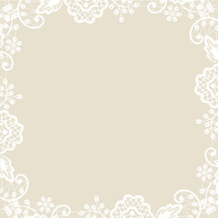 lace on beige background