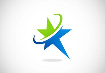 star orbit business abstract logo