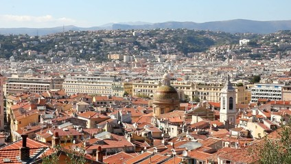 Aerial view of Nice, south of France