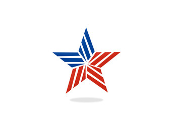 star stripe america vector logo