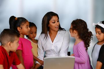 Children On Computer