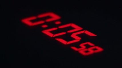 Digital Red Countdown Scoreboard